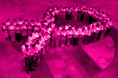 Mexico_Human Pink Ribbon of Light