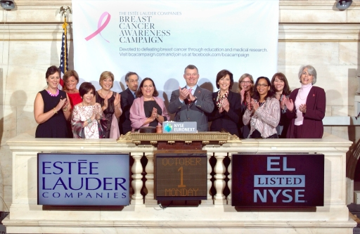 William P. Lauder, ELC Breast Cancer Survivors_2012 NYSE Opening Bell